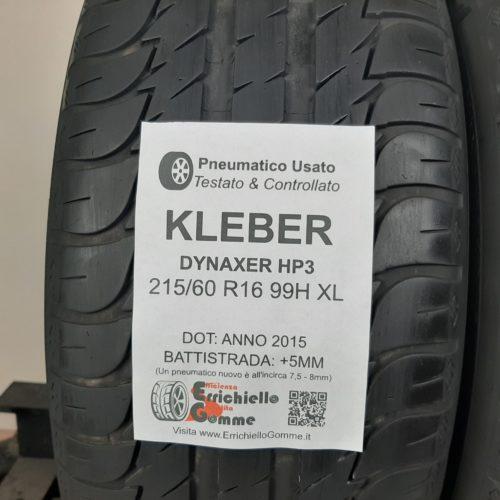 215/60 R16 99H XL Kleber Dynaxer HP3 – 60% +5mm – Gomme Estive
