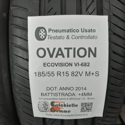 185/55 R15 82V M+S Ovation EcoVision VI-682 – 50% +4mm – Gomme 4 Stagioni