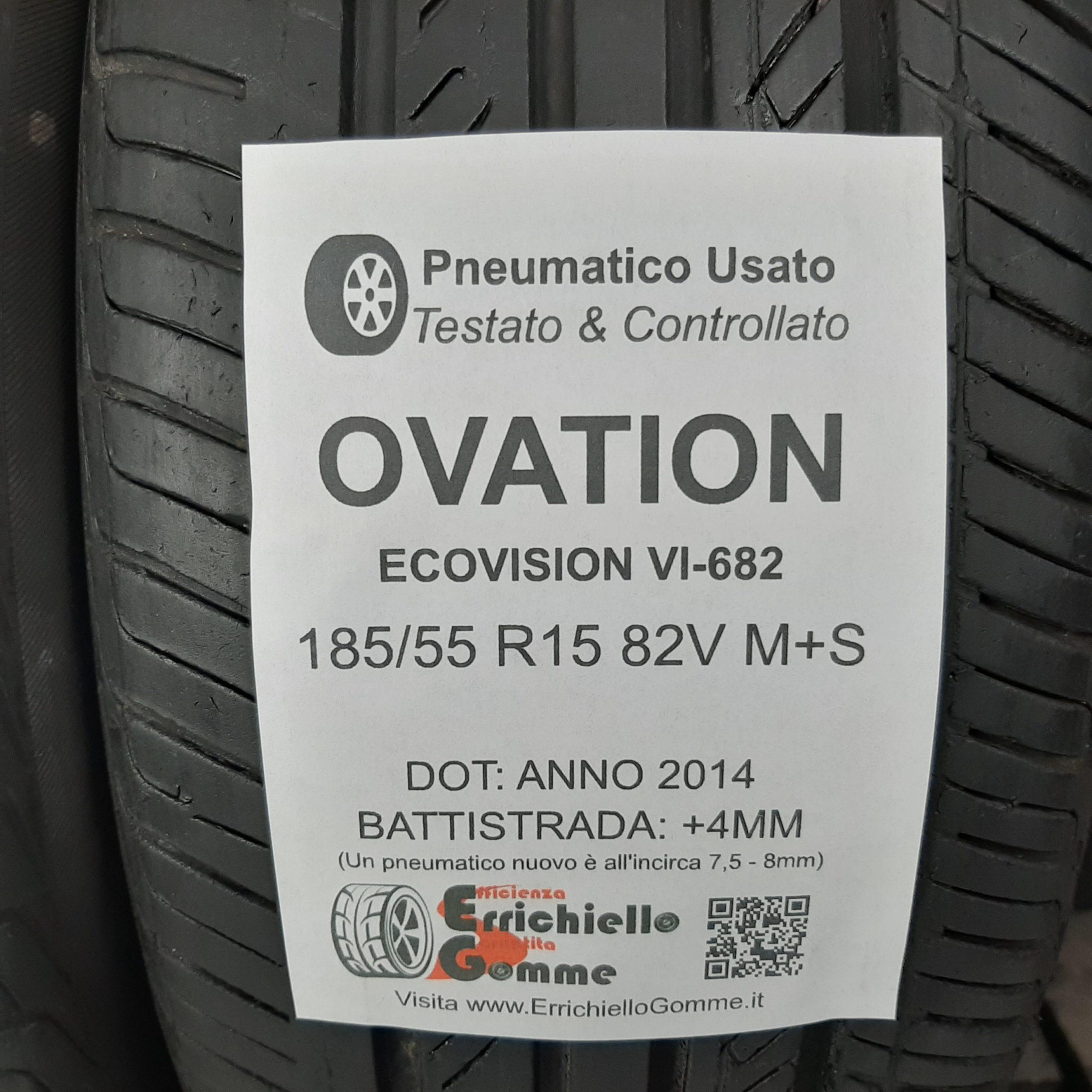 1x Pneumatici gomme Pneumatico estivo Ovation VI 682 185//55R15 82V
