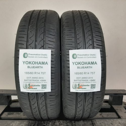 165/60 R14 75T Yokohama BluEarth  – 60% +5mm – Gomme Estive