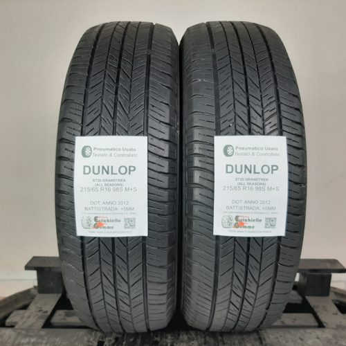 215/65 R16 98S M+S Dunlop ST20 GrandTrek (All Seasons) – 60% +5mm – Gomme 4 Stagioni