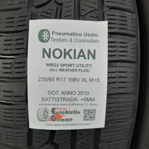 235/65 R17 108V XL M+S Nokian WR G2 Sport Utility (All Weather Plus) –  60% +5mm Gomme 4 Stagioni