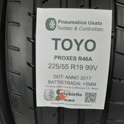 225/55 R19 99V Toyo Proxes R46A – 60% +5mm – Gomme Estive