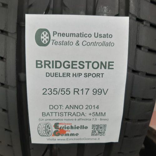 235/55 R17 99V Bridgestone Dueler H/P Sport –  60% +5mm Gomme Estive