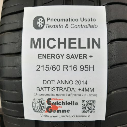 215/60 R16 95H Michelin Energy Saver+ – 50% +4mm – Gomme Estive
