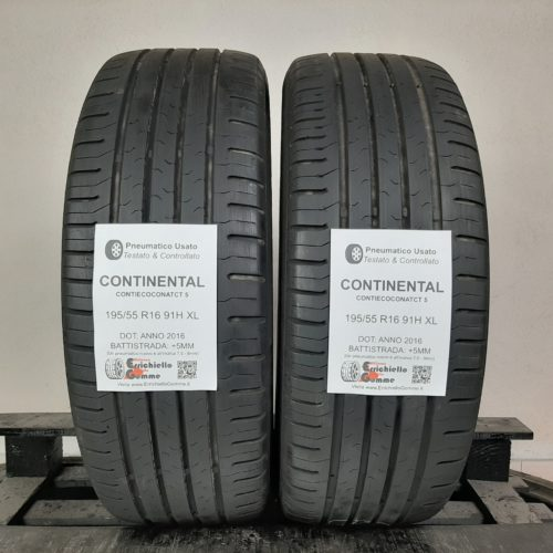 195/55 R16 91H XL Continental ContiEcoContact 5 –  60% +5mm – Gomme Estive