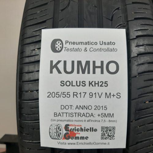 205/55 R17 91V M+S Kumho Solus KH25 –   60% +5mm – Gomme 4 Stagioni