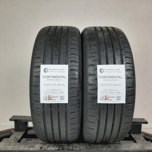 205/55 R16 94H XL Continental ContiEcoContact 5 –  60% +5mm – Gomme Estive