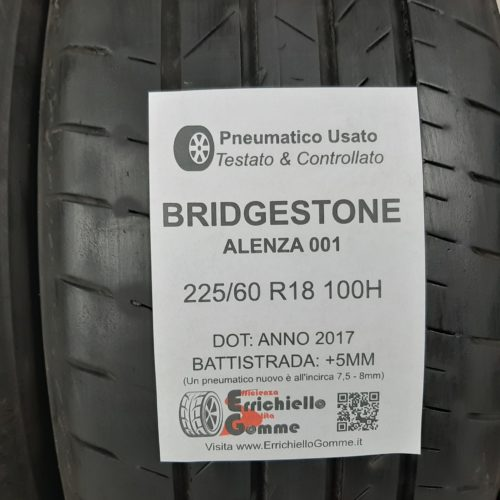 225/60 R18 100H Bridgestone Alenza 001 –  60% +5mm Gomme Estive