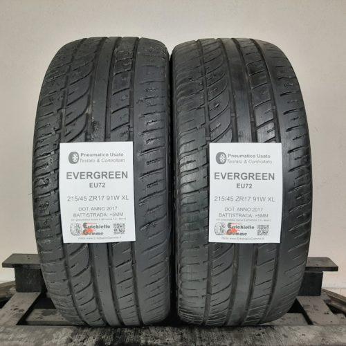 215/45 ZR17 91W XL Evergreen EU72 – 60% +5mm – Gomme Estive