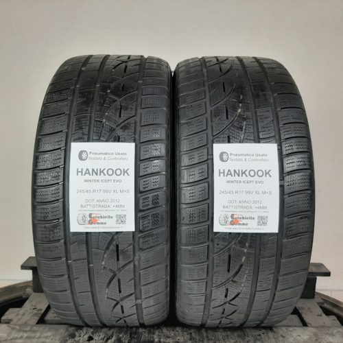 245/45 R17 99V XL M+S Hankook Winter Icept Evo – 50% +4mm Gomme Invernali