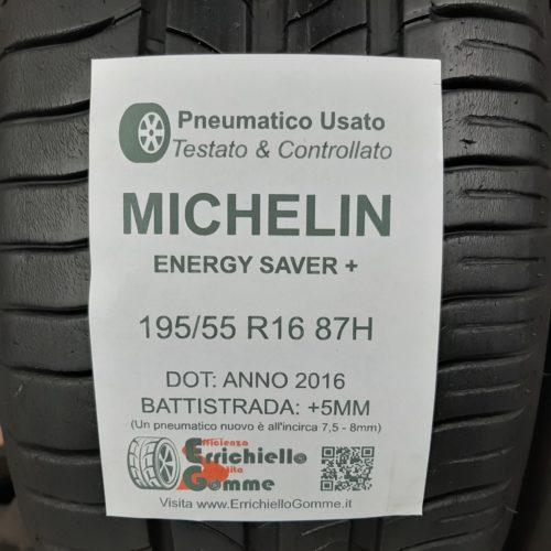 195/55 R16 87H Michelin Energy Saver+ – 60% +5mm Gomme Estive
