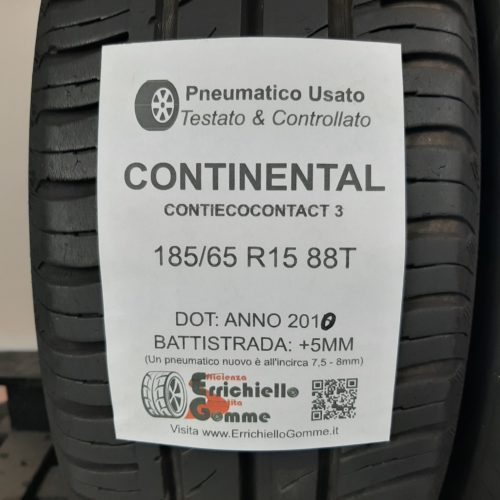 185/65 R15 88T Continental ContiEcoContact 3 –   60% +5mm Gomme Estive