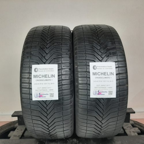 245/45 R18 100Y XL M+S Michelin CrossClimate+ – 50% +4mm Gomme 4 Stagioni