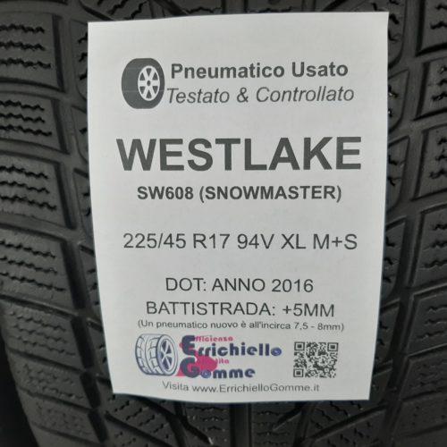 225/45 R17 94V XL M+S Westlake SW608 (SnowMaster) – 60% +5mm – Gomme Invernali