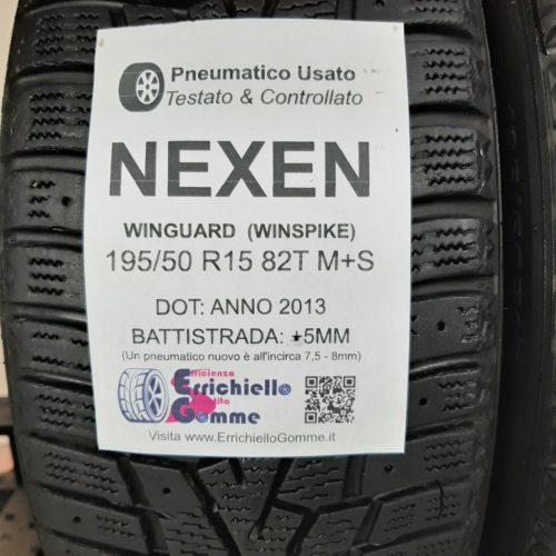 195/50 R15 82T M+S Nexen WinGuard (WinSpike) – 60% +5mm – Gomme Invernali
