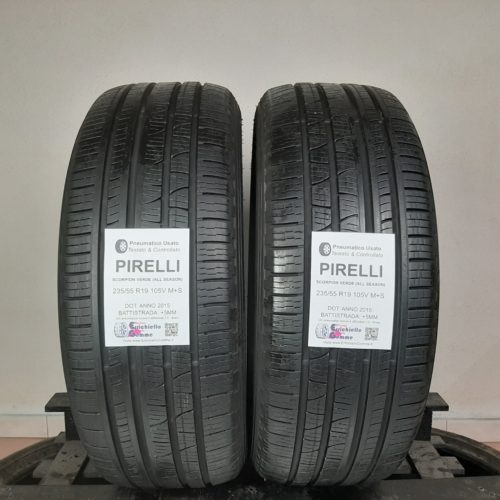 235/55 R19 105V M+S Pirelli Scorpion Verde (All Seasons)  –   60% +5mm – Gomme 4 Stagioni