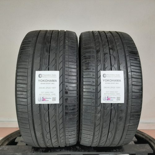295/40 ZR20 106Y Yokohama Advan Sport (MO) – 60% +5mm – Gomme Estive