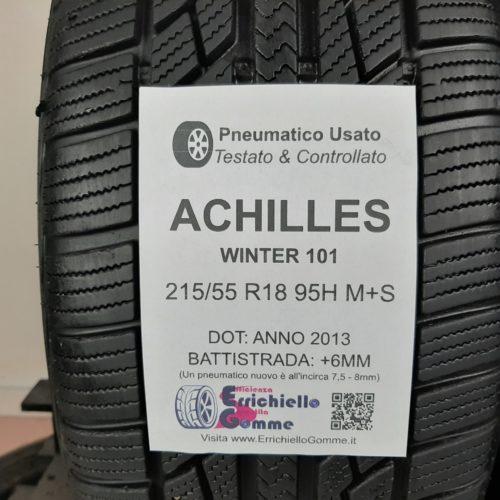 215/55 R18 95H M+S Achilles Winter 101 – 70% +6mm – Gomme Invernali