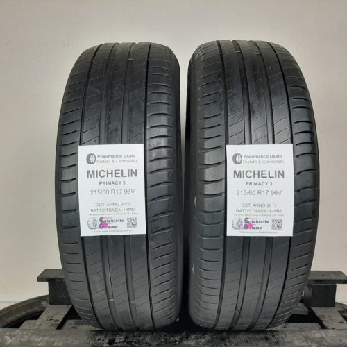 215/60 R17 96V Michelin Primacy 3 – 50% +4mm – Gomme Estive