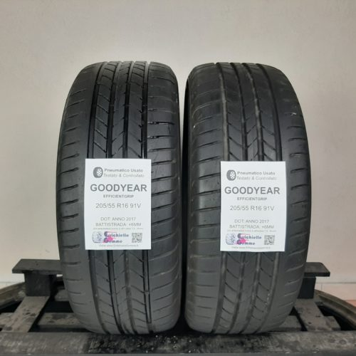 205/55 R16 91V Goodyear EfficientGrip – 70% +6mm Gomme Estive