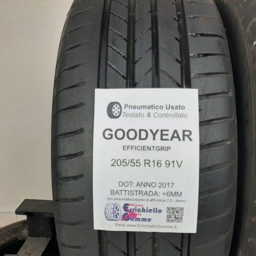 205/55 R16 91V Goodyear EfficientGrip – 70% +6mm Gomme Estive