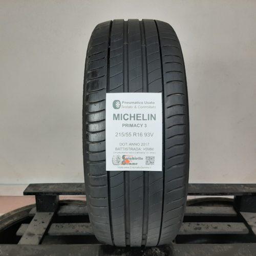 215/55 R16 93V Michelin Primacy 3 – 60% +5mm – Gomma Estiva