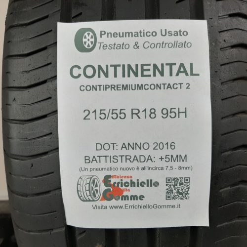 215/55 R18 95H Continental ContiPremiumContact 2 – 60% +5mm – Gomma Estiva