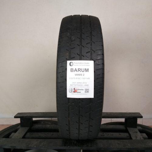 215/75 R16C 116/114R Barum Vanis 2 – 50% +4mm – Gomma Estiva Trasporto