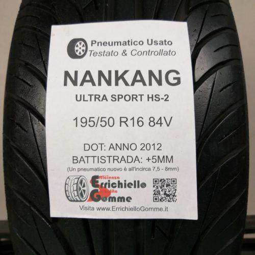 195/50 R16 84V Nankang Ultra Sport HS-2 – 60% +5mm – Gomma Estiva