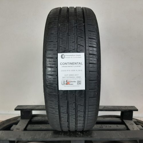 235/55 R19 105W XL M+S Continental CrossContact LX Sport – 60% +5mm Gomma 4 Stagioni