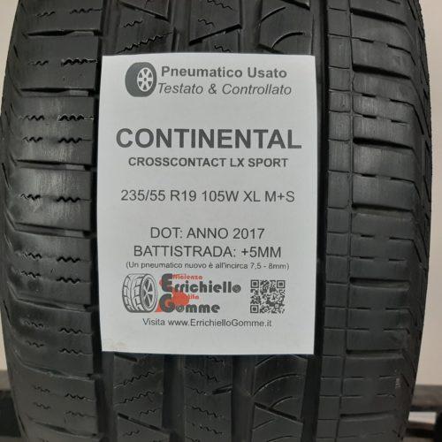 235/55 R19 105W XL M+S Continental CrossContact LX Sport – 60% +5mm Gomma 4 Stagioni