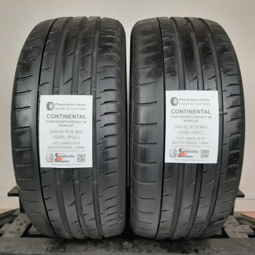 245/45 R18 96V SSR RSC Continental ContiSportContact 3E Runflat – 60% +5mm Gomme Estive