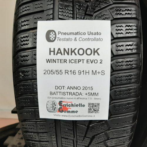 205/55 R16 91H M+S Hankook Winter Icept EVO 2 – 60% +5mm – Gomme Invernali