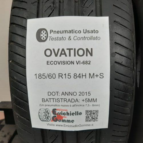185/60 R15 84H M+S Ovation EcoVision VI-682 –  60% +5mm – Gomme 4 Stagioni