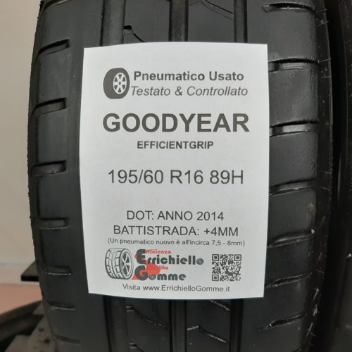 195/60 R16 89H Goodyear EfficientGrip – 50% +4mm – Gomme Estive