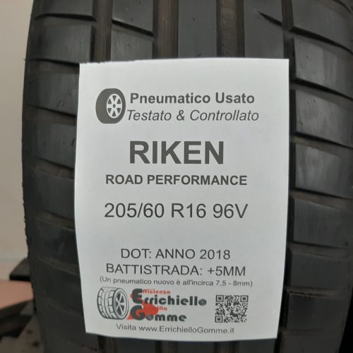 205/60 R16 96V Riken Road Performance – 60% +5mm – Gomme Estive