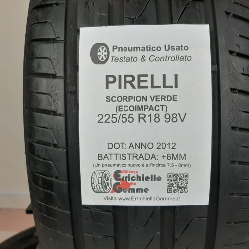 225/55 R18 98V Pirelli Scorpion Verde (EcoImpact) – 70% +6mm – Gomme Estive