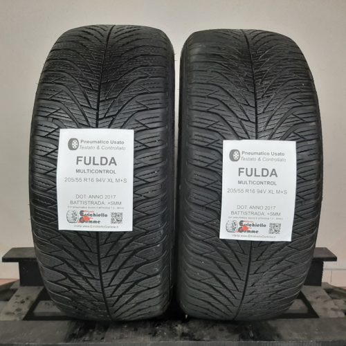 205/55 R16 94V XL M+S Fulda MultiControl – 60% +5mm – Gomme 4 Stagioni