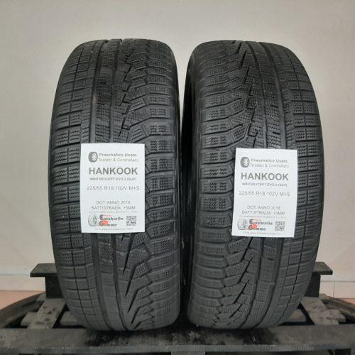 225/55 R18 102V M+S Hankook Winter Icept Evo 2 (SUV) – 60% +5mm – Gomme Invernali