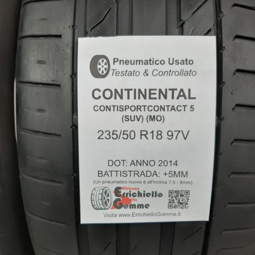 235/50 R18 97V Continental ContiSportContact 5 (SUV) (MO) – 60% +5mm Gomme Estive