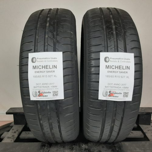 185/65 R15 92T XL Michelin Energy Saver – 60% +5mm Gomme Estive