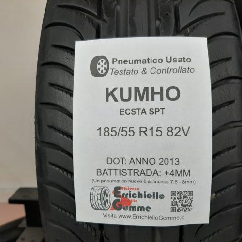 185/55 R15 82V Kumho Ecsta SPT – 50% +4mm – Gomme Estive