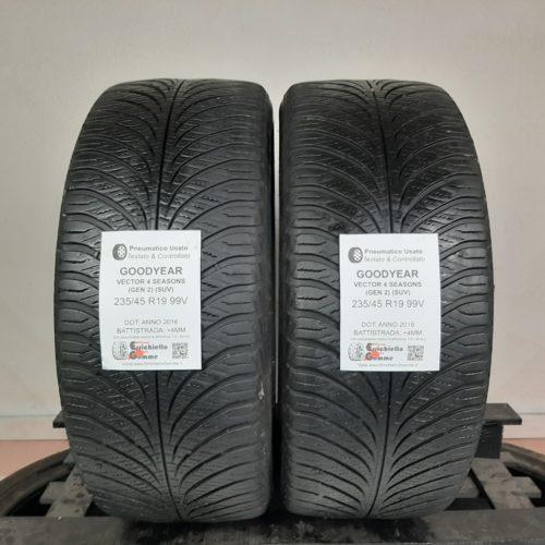 235/45 R19 99V Goodyear Vector 4 Seasons (GEN 2) (SUV) –  50% +4mm – Gomme 4 Stagioni