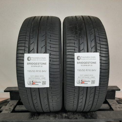 195/50 R16 84V Bridgestone Ecopia EP25 – 60% +5mm – Gomme Estive
