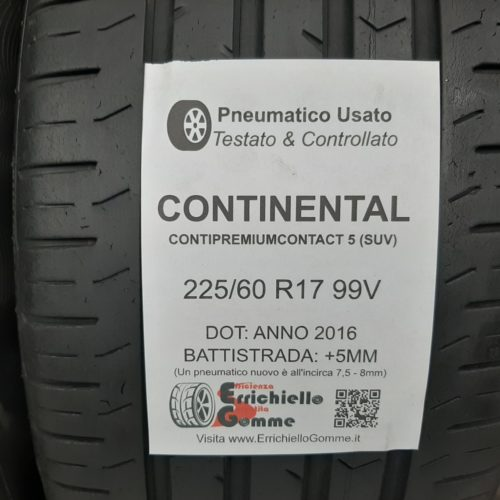 225/60 R17 99V Continental ContiPremiumContact 5 (SUV) – 60% +5mm – Gomme Estive
