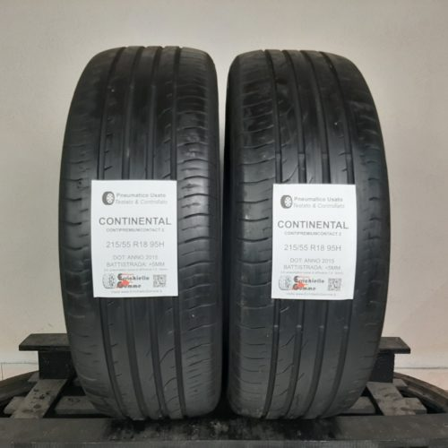 215/55 R18 95H Continental ContiPremiumContact 2 – 60% +5mm Gomme Estive