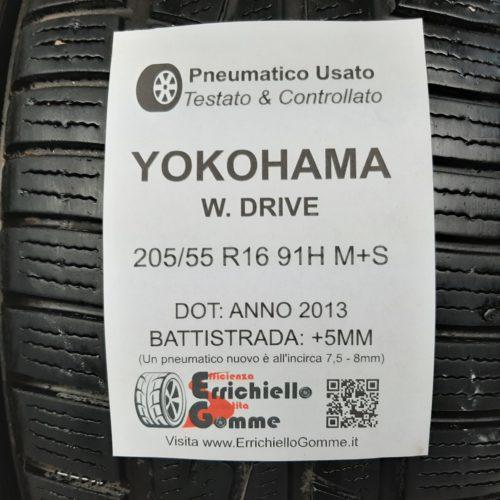 205/55 R16 91H M+S Yokohama W. Drive –  60% +5mm Gomme Invernali
