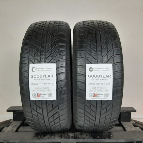 205/50 R17 89V M+S Goodyear Vector 4 Seasons – 60% +5mm – Gomme 4 Stagioni