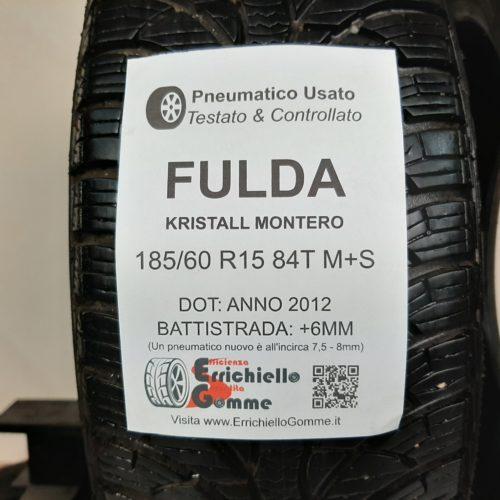 185/60 R15 84T M+S Fulda Kristall Montero – 70% +6mm – Gomme Invernali